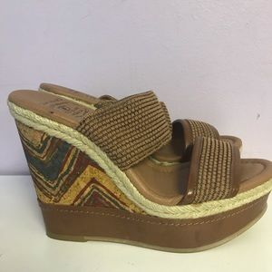 Lucky Brand candy wedge sandals sz 6